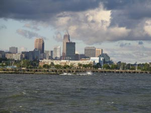 Cleveland skyline view from Dike 14